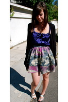 LAMB shoes - Urban Outfitters skirt - H&M top - Splendid sweater