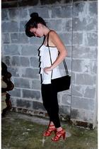 Anthropologie shirt - f21 shoes - vintage purse - vintage bracelet