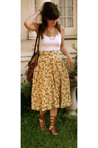 tracy reese skirt - Jeffery Campbell shoes - vintage necklace - vintage purse