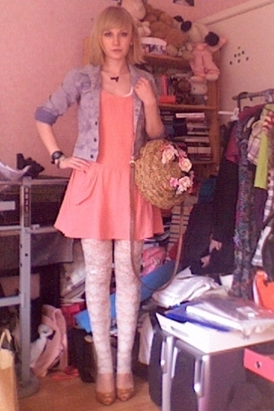 Marks and Spencers dress - Topshop jacket - H&M leggings - DIY accessories - viv