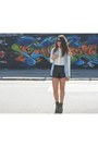 Zara-blouse-stradivarius-shirt-romwe-shorts