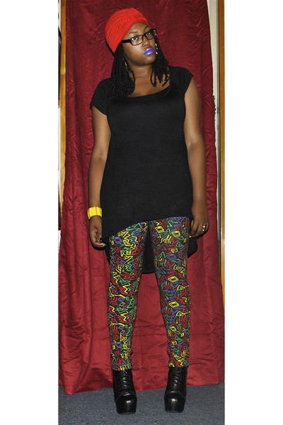 chartreuse Like An Angel pants - black Glaze boots