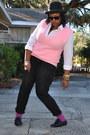 Bubble-gum-moms-vest-black-charlotte-russe-pants-magenta-forever-21-socks-