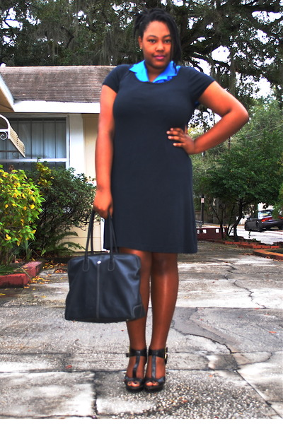 c6ade5adc2a9 black t-shirt Old Navy dress - black classic tote gifted bag - black GoJane
