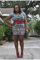 ivory Forever 21 dress - ruby red Forever 21 boots - black Charlotte Russe purse