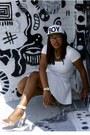 White-snapback-ebay-hat-white-lucite-forever-21-heels