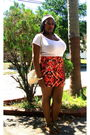 White-old-navy-t-shirt-orange-asos-skirt-green-wet-seal-shoes-beige-thrift