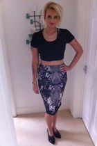 next skirt - Topshop shoes - Topshop top