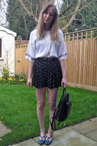 thrifted bag - Primark shorts - thrifted jumper - Primark belt - Miss Selfridge