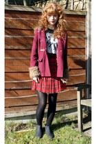 Primark t-shirt - Topshop boots - Primark coat - vintage skirt