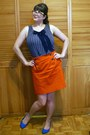 Navy-jacob-top-orange-banana-republic-skirt-blue-ardene-flats