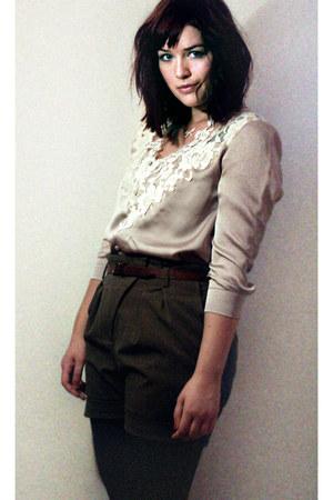 H&M blouse - Zara shorts