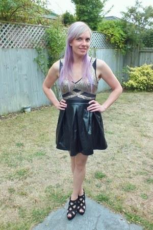 trendz dress - black Kmart wedges