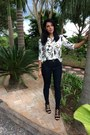 Black-sammydress-watch-white-newchic-blouse-black-amiclubwear-heels