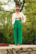 Urban Outfitters blazer - Zara pants - GoJane heels