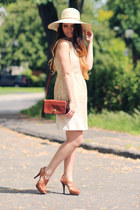 Joe Fresh dress - Urban Outfitters hat - coach purse - BCBG heels