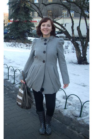 silver new look coat