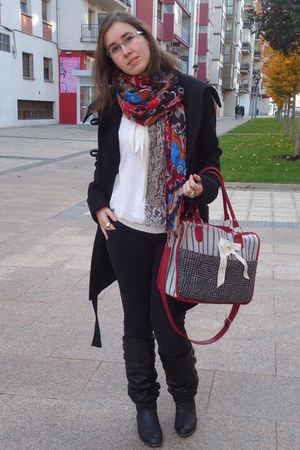 Only coat - Mustang boots - Pepe Jeans jeans - print mix Z&L scarf