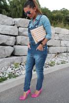 Stradivarius jeans - H&M shirt - Pour La Victoire heels - Michael Kors watch