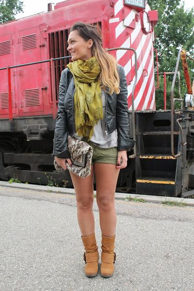 Aldo boots - le chateau jacket - Zara scarf - H&M shorts