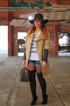 Zara coat - Louis Vuitton bag