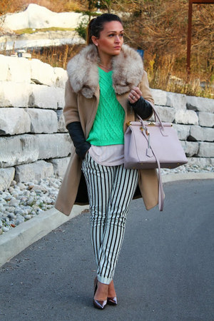 Zara coat - Forever 21 pants