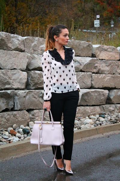 H&M blouse - Forever 21 pants - Steve Madden heels