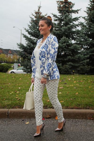 Zara blazer - Nasty Gal jeans - Steve Madden heels