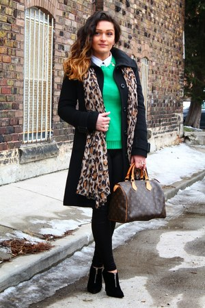Aldo boots - Jacob coat - Anne Klein sweater - Louis Vuitton bag