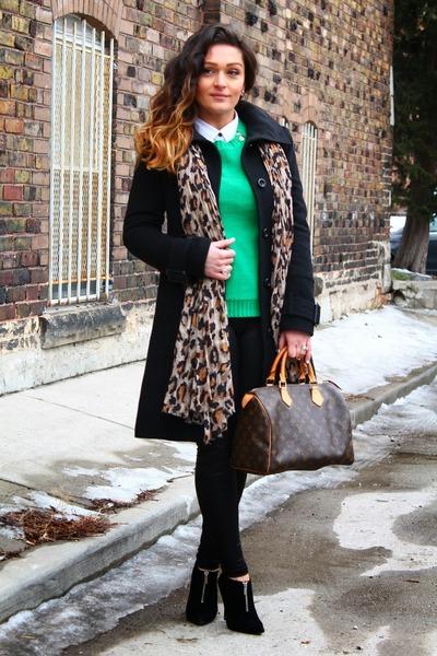 Aldo boots - Jacob coat - Anne Klein sweater - Louis Vuitton bag