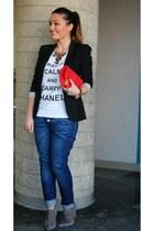 Aldo boots - Fornarina jeans - Zara blazer