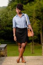 satchel Aldo bag - new look shirt - mini skirt new look skirt