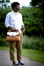 White-shirt-h-m-shirt-satchel-aldo-bag-chino-river-island-pants