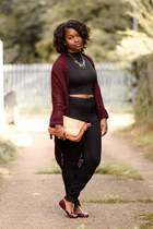 crop top Topshop top - high-waisted Primark jeans - metallic Dorothy Perkins bag