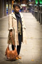 Primark coat - Peacocks bag - Gap cardigan - H&M blouse - River Island loafers