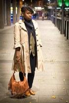 Primark coat - Peacocks bag - Gap cardigan - H&M blouse - River Island loafers