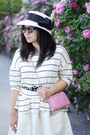 White-stripes-anthropologie-sweater-white-midi-h-m-skirt