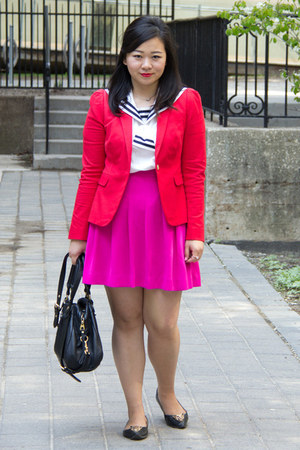 white sailor unknown shirt - red JCrew blazer
