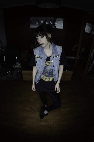 diy denim vintage jacket - creepers Underground London shoes