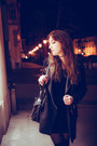 Black-velvet-vintage-dress-black-zara-coat-black-guess-bag