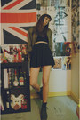 Black-old-leather-dr-martens-boots-forest-green-vintage-jacket