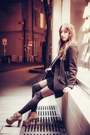 Black-velvet-vintage-dress-black-zara-coat-black-guess-bag