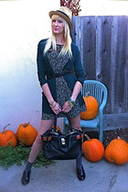 Urban Outfitters dress - Gap hat - Chloe bag - Nordstrom cardigan