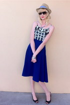blue American Apparel skirt - navy Target dress - tan Target hat
