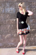 Target dress - Kate Space purse - Betsey Johnson sunglasses