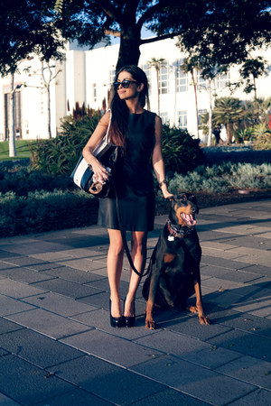 Rebecca Minkoff bag - leather Zara dress - pumps Yves Saint Laurent heels