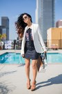 Cotton-white-asos-blazer-tweed-navy-zara-skirt-zara-blouse