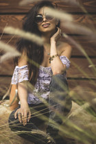 Luna B top - Forever 21 jeans - gladiator heels Mia heels