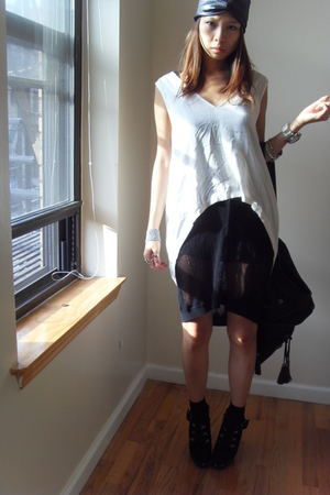 top - Alexander Wang dress - forever 21 shorts - Colin Stuart shoes - H&M socks