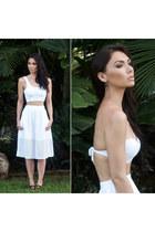 bandeau GURIA swimwear - white lace mesh skirt GURIA swimwear - white Zara skirt
